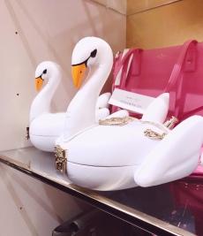 Swan floatie purse!